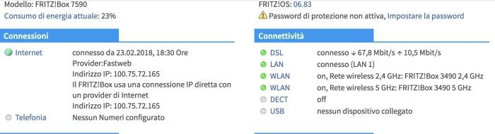 fastweb nel modem
