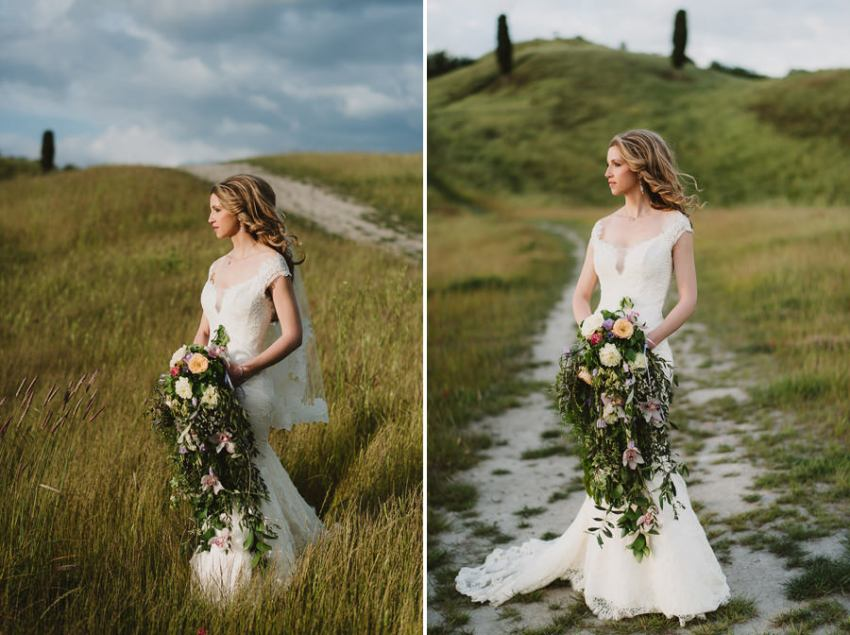 Romantic Italian elopement in Tuscany Photo / Bride