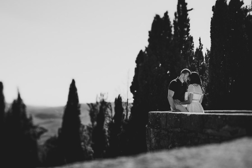 Wedding proposal inspiration creative portrait in Italy
