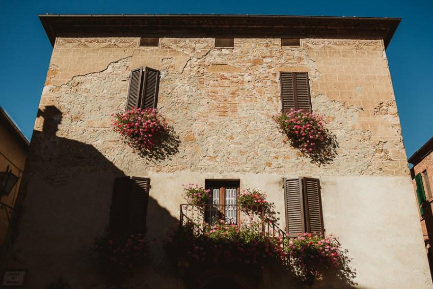 Wedding proposal inspiration tuscan house old brick wall