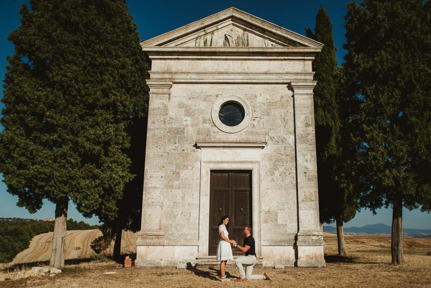Wedding proposal inspiration proposing in Italy photography