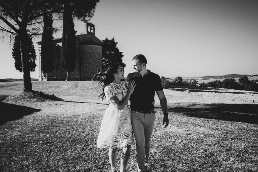 Wedding proposal inspiration proposing in Italy walking and hug