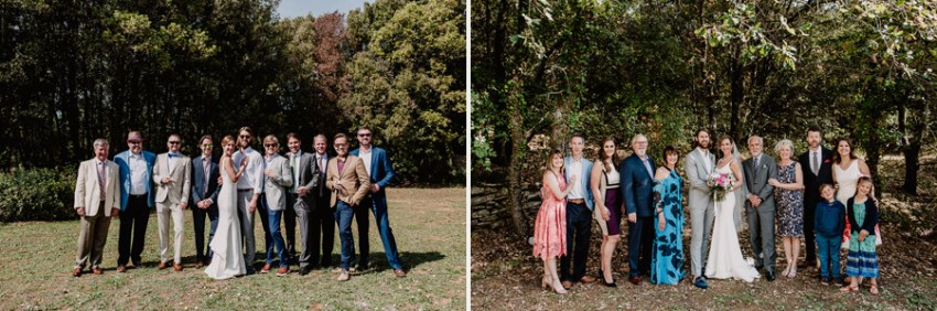 Exclusive wedding photographer tuscany italy family formals