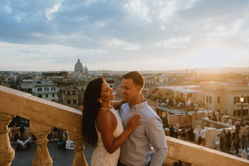 wedding photographer rome romantic couple session san pietro