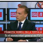 Francesc Romeu. Vicesecretario y Portavoz del PSPV PSOE