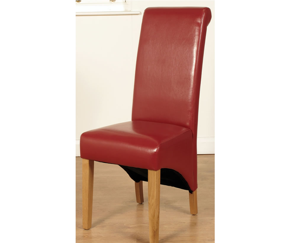 Nico Red Faux Leather Dining Chairs