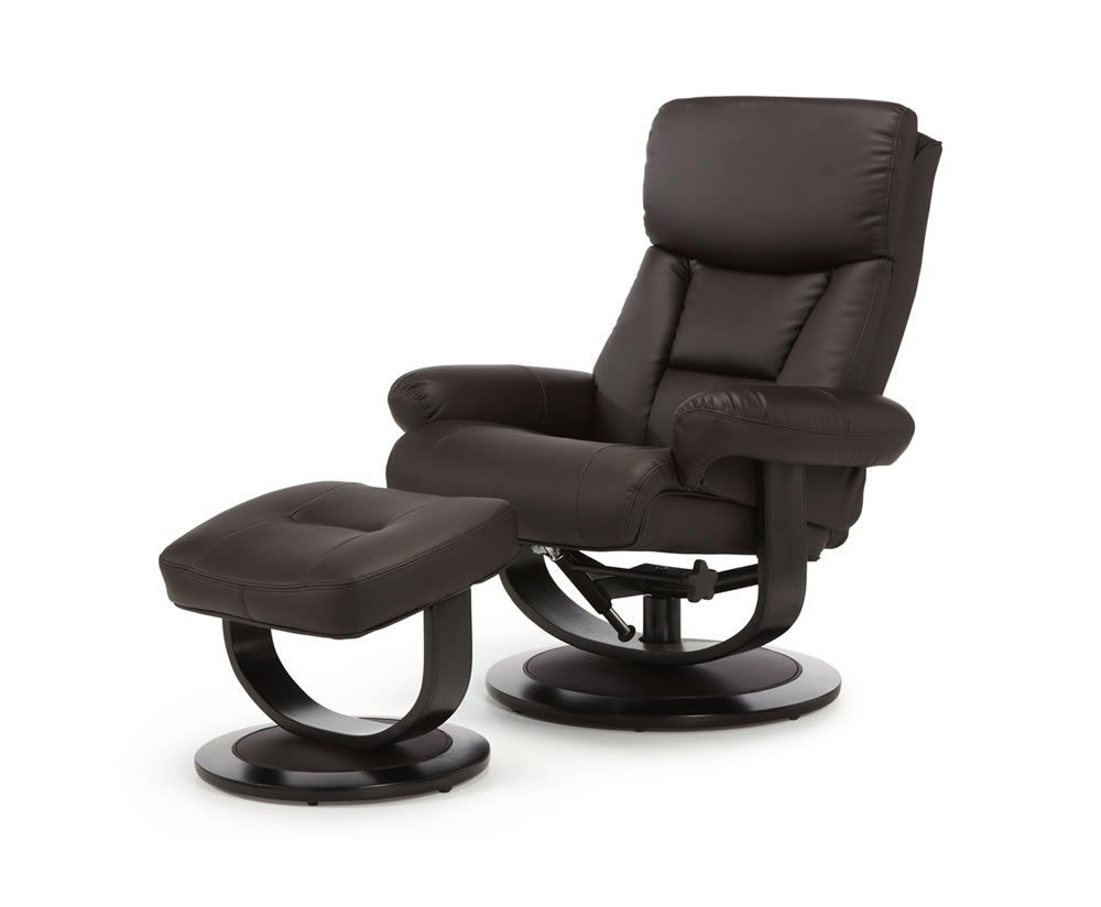 leather swivel recliner chair and stool styles of chairs names jordan brown bonded - frances hunt