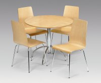 Mandy Maple Round Kitchen Table and 4 Chairs