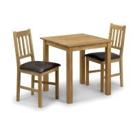 Belstone Square Oak Kitchen Table and 2 Chairs - UK delivery
