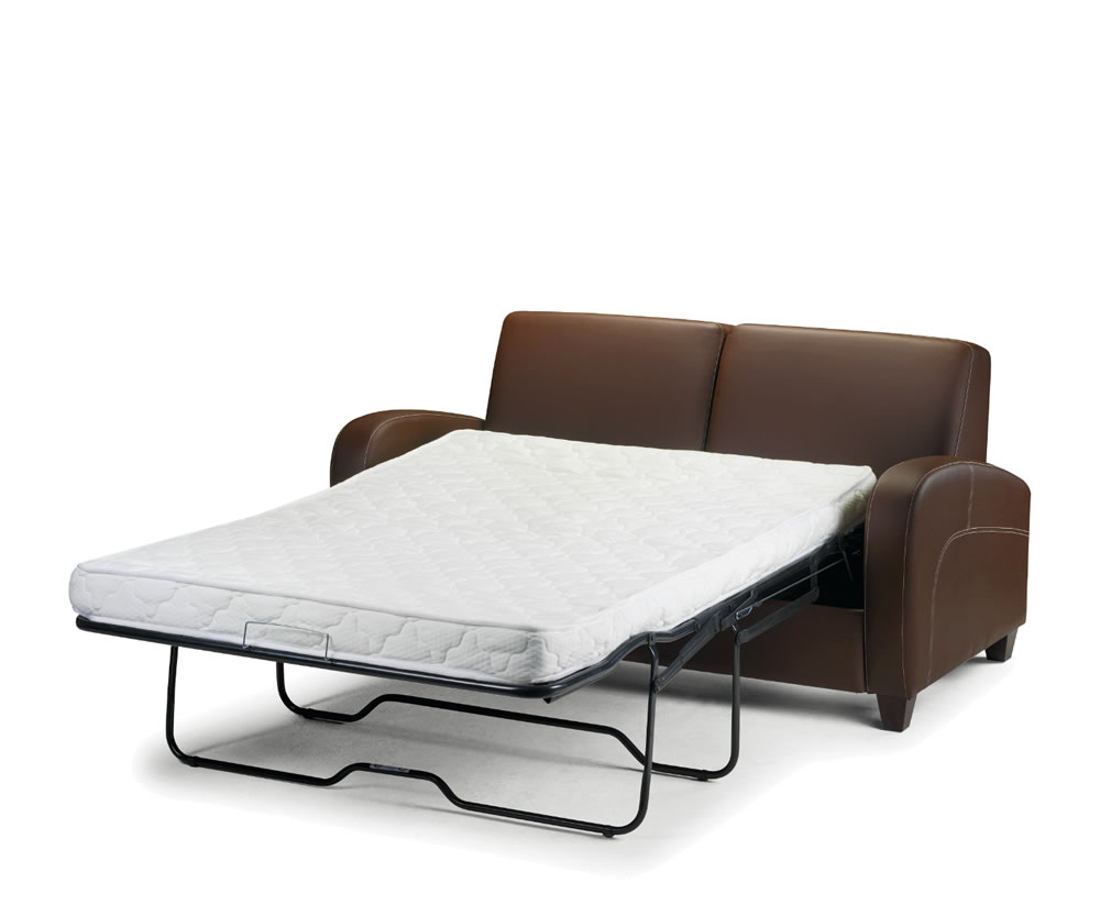 faux leather sofa bed uk flexsteel digby upholstered vivo pull out chestnut delivery