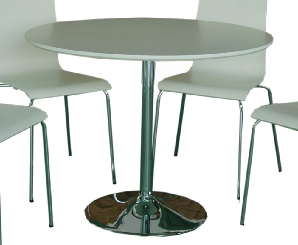 Shoreditch White Round Kitchen Table and Chairs