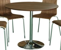 Shoreditch Walnut Round Kitchen Table and Chairs