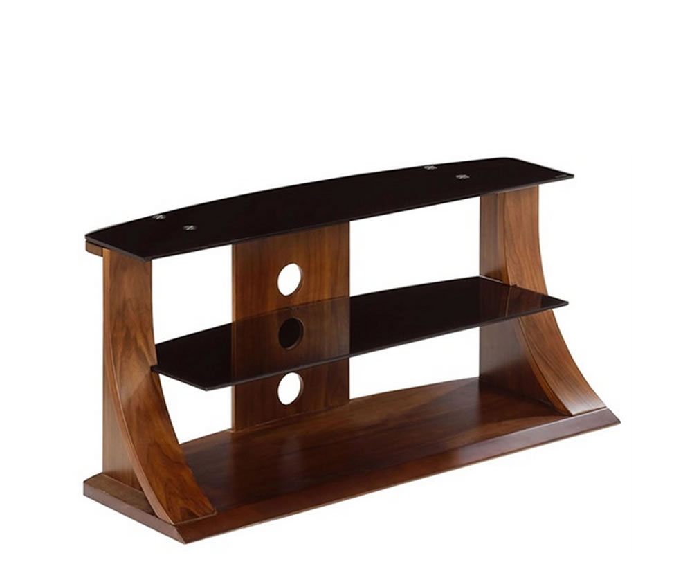 Dudley Small Walnut Glass TV Stand