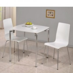 2 Seater Kitchen Table Set Over Sink Lighting Monroe White High Gloss Small Dining And Chairs