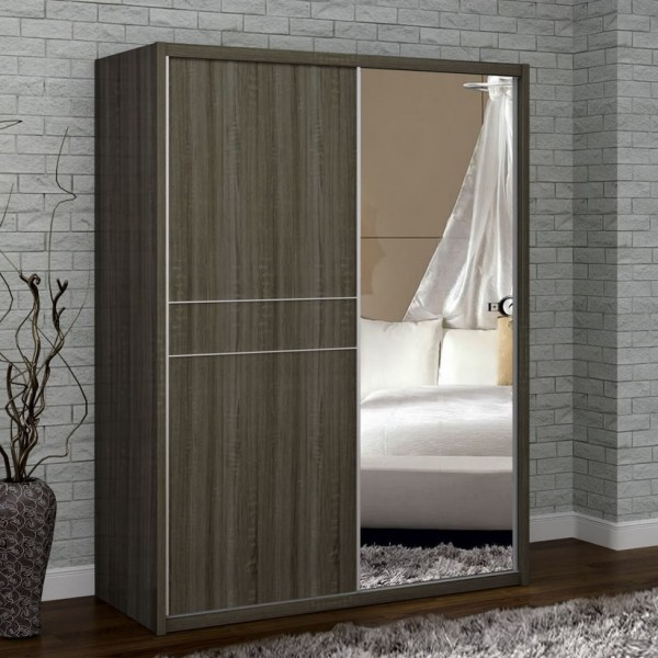 Franklin Dark Oak Wooden Sliding Wardrobe