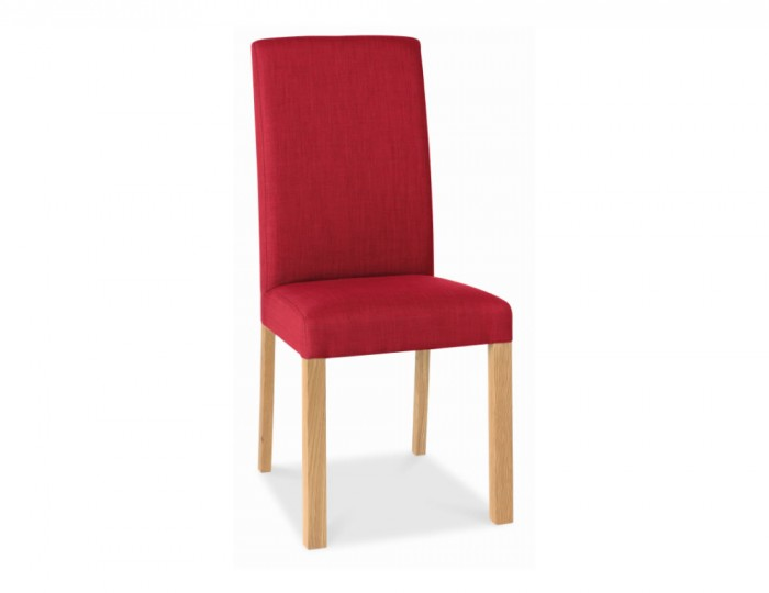 Parker Oak And Red Upholstered Dining Chair