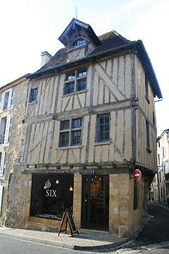 Half timbered house in Bergerac