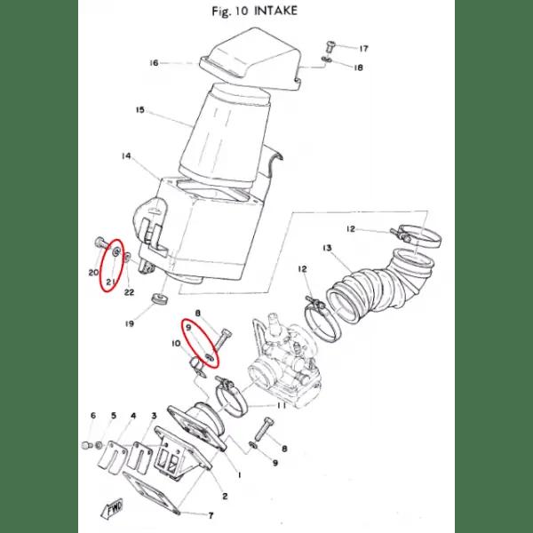 Yamaha TY 50, 80, 125 et 250 spring washer