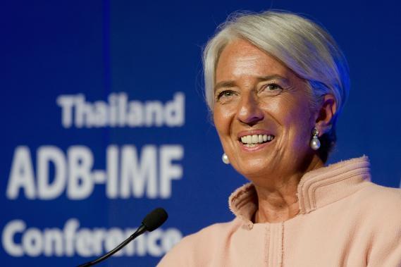 La directrice du Fond monétaire international (FMI) Christine Lagarde lors d'une conférence à Bangkok (Thaïlande), le 12 juillet 2012.