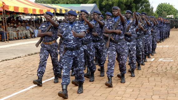 Des soldats maliens défilent le 22 septembre 2012 à Bamako, à l'occasion dela fête de l'indépendance du pays.