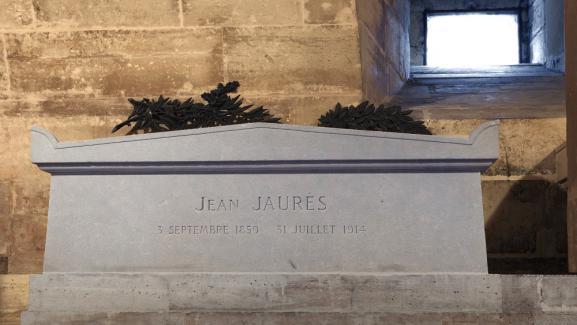 La tombe de Jean Jaurès au Panthéon.