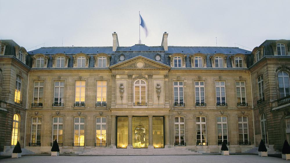 Le palais de l'Elysée, siège de la présidence française.