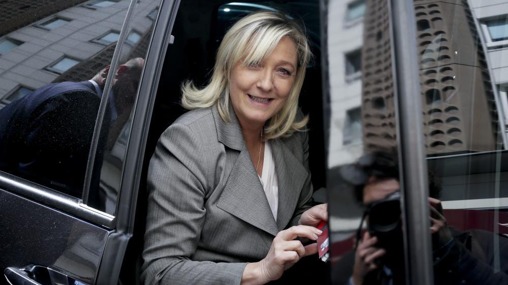La présidente du FN, Marine Le Pen, le 23 juin 2015 à Paris.
