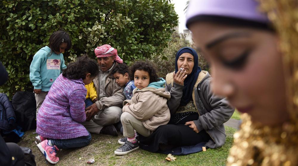 Des Syriens qui ont trouvé refuge depuis un an à Montevideo (Uruguay), le 7 septembre 2015.