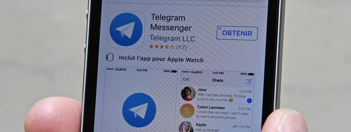 Image d\'illustration de l\'application Telegram.