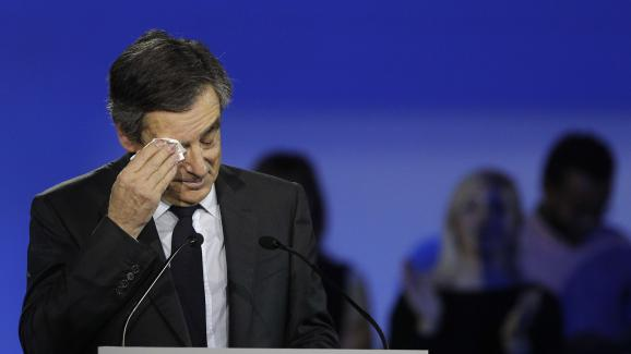 François Fillon lors de son meeting de Villepinte (Seine-Saint-Denis), le 29 janvier 2017.