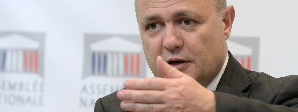Bruno Le Roux, l\'actuel ministre de l\'Intérieur, en 2014 à l\'Assemblée nationale, à Paris.