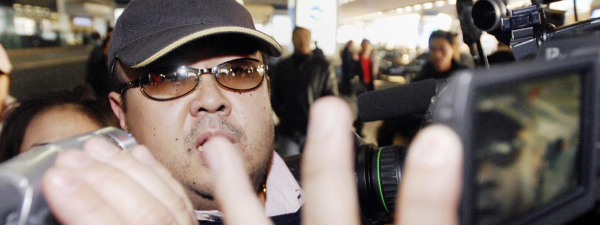 Kim Jong-nam, le demi-frère du leader nord-coréen Kim Jong-un, à l\'aéroport de Pékin (Chine), le 11 février 2007.