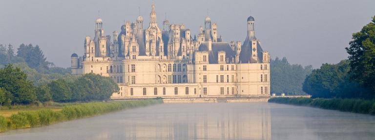 Le château de Chambord, dans le département du Loir-et-Cher en région Centre-Val de Loire.