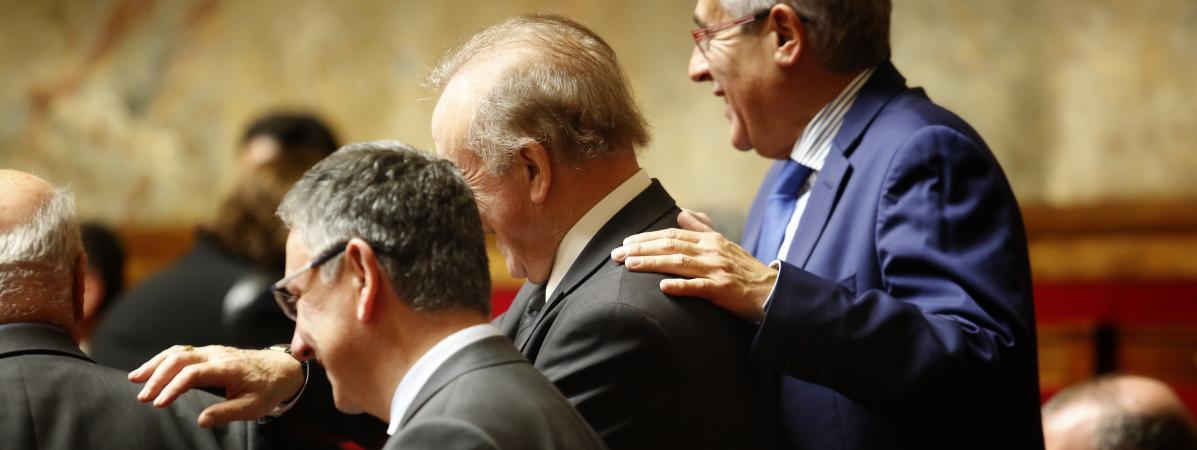 Des députés dans l\'hémicycle de l\'Assemblée nationale, le 7 février 2017.
