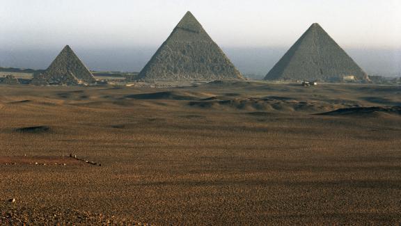 Les pyramides du site de Gizeh, en Egypte.