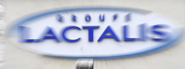 Le logo du siège social du groupe laitier français Lactalis à Laval (Mayenne), le 12 janvier 2018.