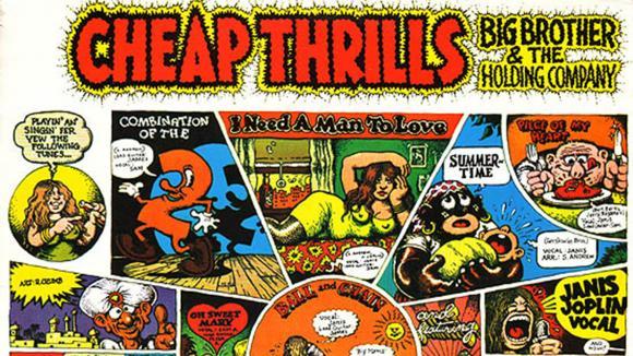 """La bande dessinée de Robert Crumb pour \""""Cheap Thrills\"""" est une des pochettes les plus célèbres de l\'histoire du rock."""