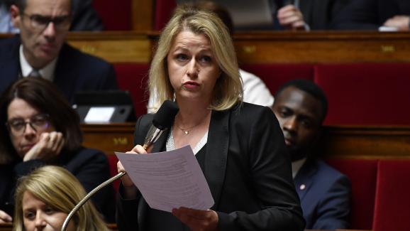 La députée LREM Barbara Pompili lors d\'une session de questions au gouvernement, le 22 mai 2018.