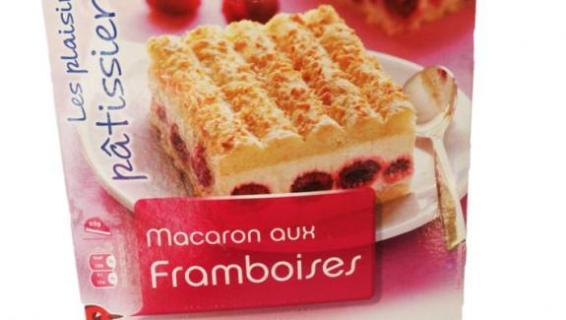 Les macarons aux framboises de la marque Auchan.