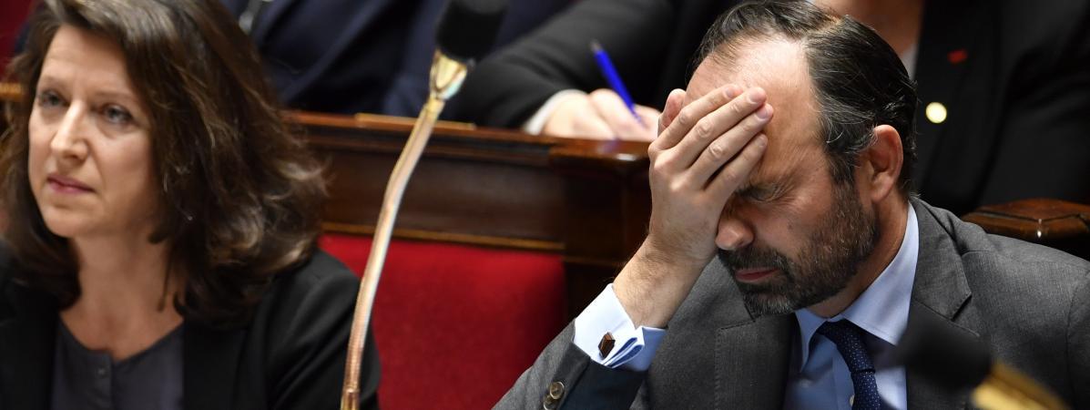 Edouard Philippe à l\'Assemblée nationale le 13 février 2018.