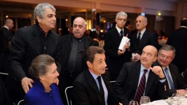 """Top French politicians at the annual """"dinner of the CRIF,"""" an influential ethnic lobby"""