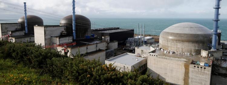 Le chantier de l\'EPR de Flamanville (Manche).