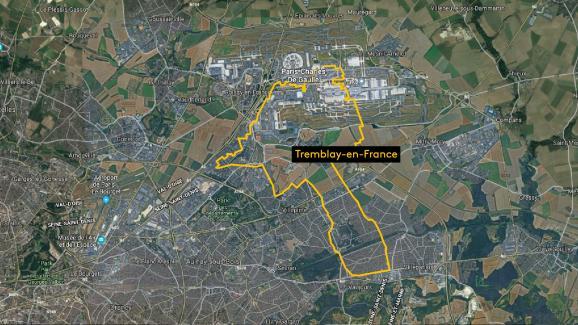 La ville de Tremblay-en-France, située en Seine-Saint-Denis.