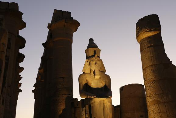 Les ruines majestueuses du temple de Karnak à Louxor (Egypte), le 23 novembre 2018.