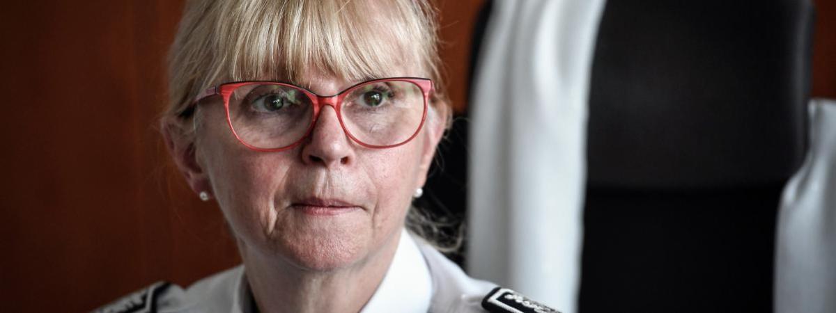 Brigitte Jullien, la directrice de l\'Inspetion générale de la police nationale, au ministère de l\'Intérieur, le 13 juin 2019.