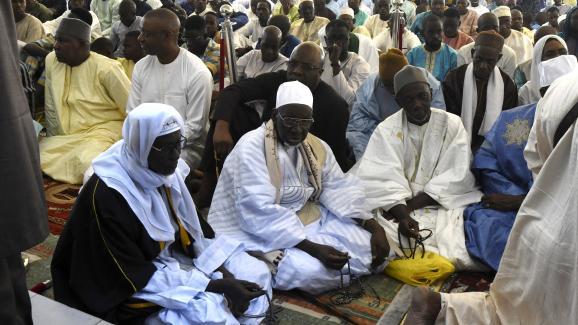 Pendant la célébration de la fête de l\'Aïd à Dakar le 21 août 2018