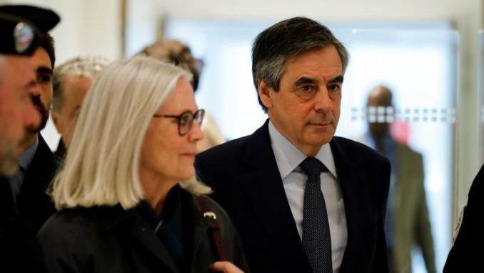 François et Penelope Fillonlors de leur arrivée au tribunal de grande instance de Paris, le 10 mars 2020.