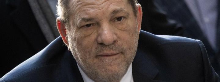L\'ancien magnat d\'Hollywood, Harvey Weinstein, lors de son procès à New York, le 24 février 2020.