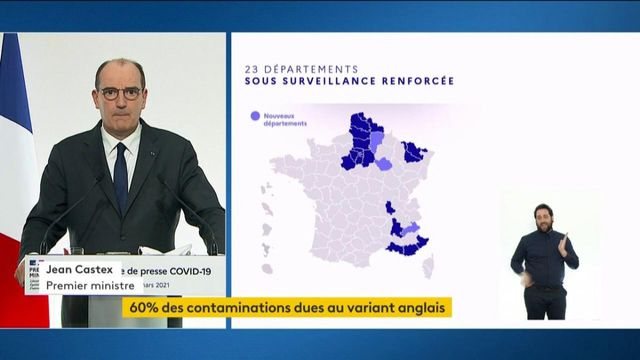 Covid-19: Jean Castex announce that Hautes-Alpes, Aisne and Aube join the departments under surveillance
