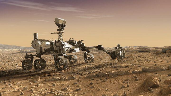 Illustration du robot Perseverance de la Nasa. (NASA / JPL CALTECH)